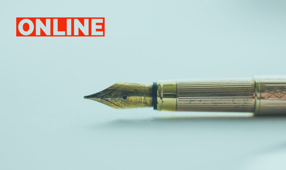 Image of Pen and word 'online'